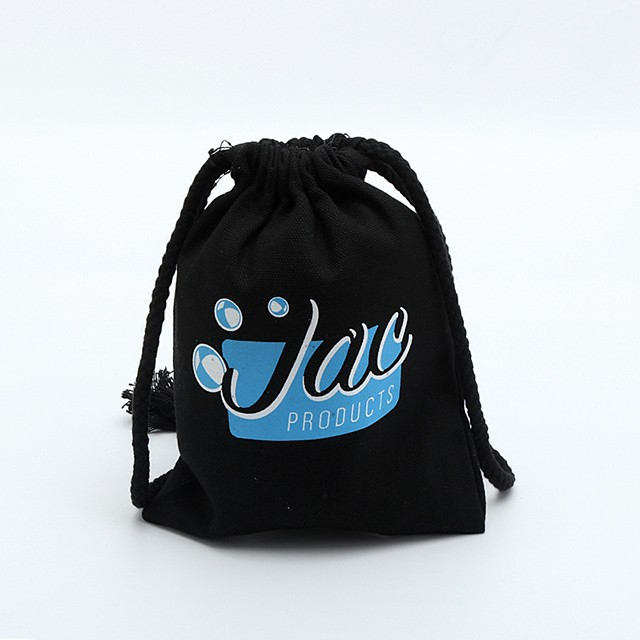 Personalized small size cotton drawstring bag with custom logo