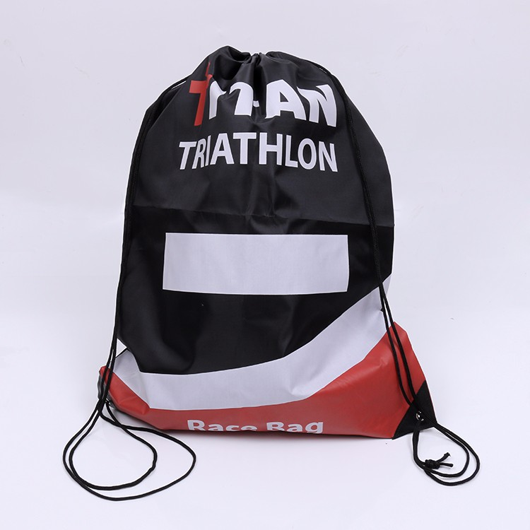 polyester sport race drawstring bag