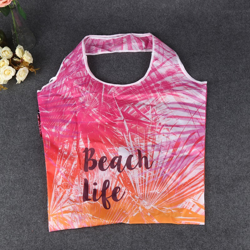 Bank promotion sublimation printed foldable polyester bag