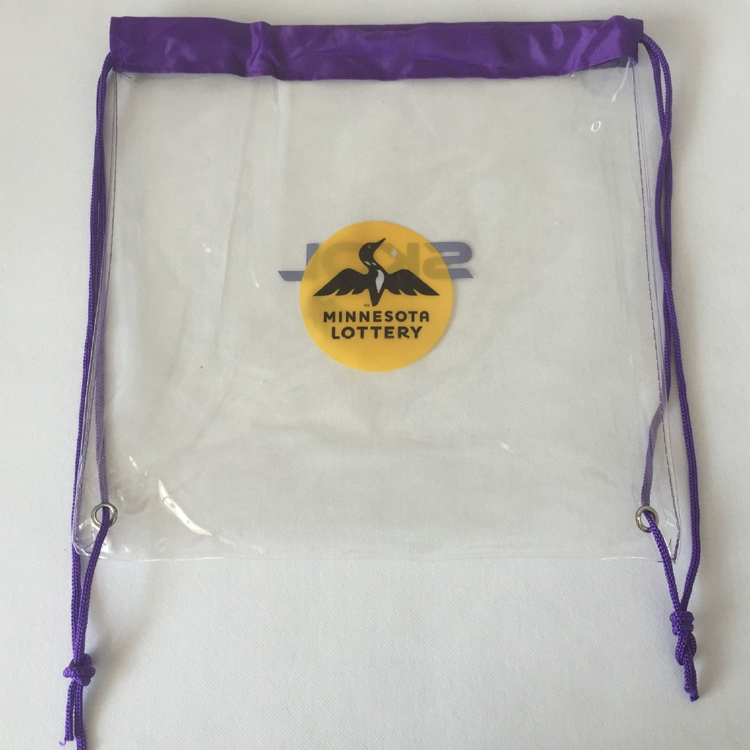 PVC Drawstring Backpack Plastic Transparent Backpack