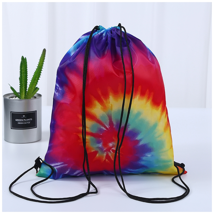 Colorful Nylon Drawstring Bags