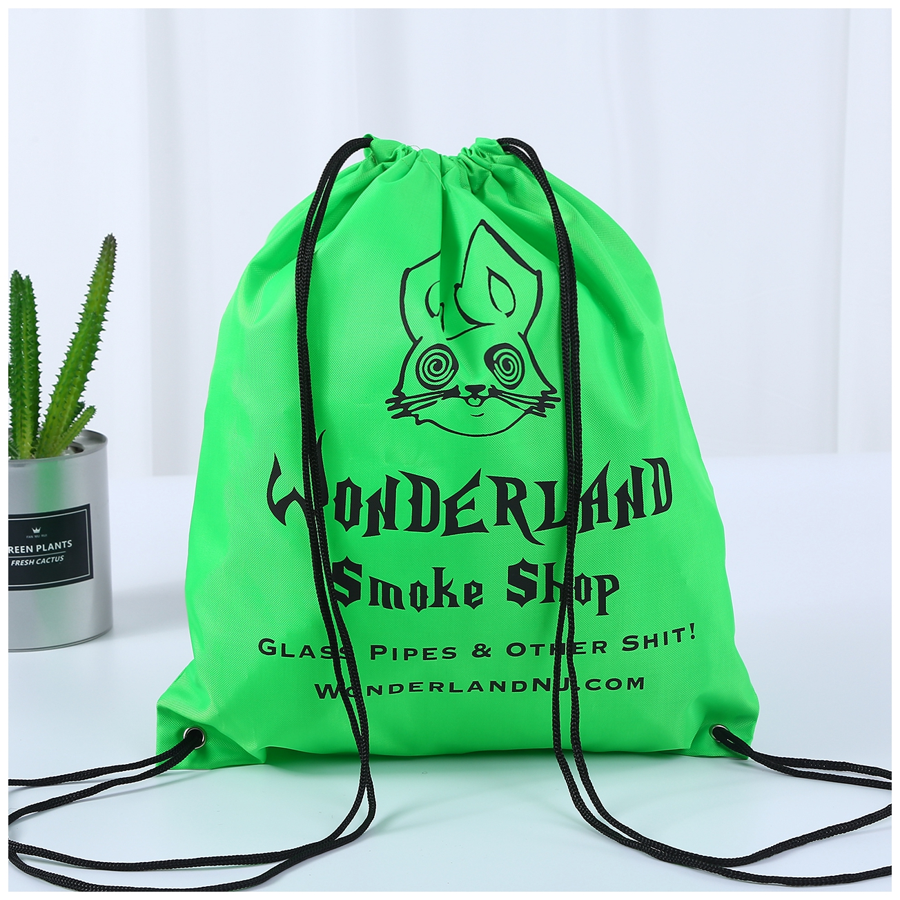 Woderland Smoke Shop Drawstring backpack