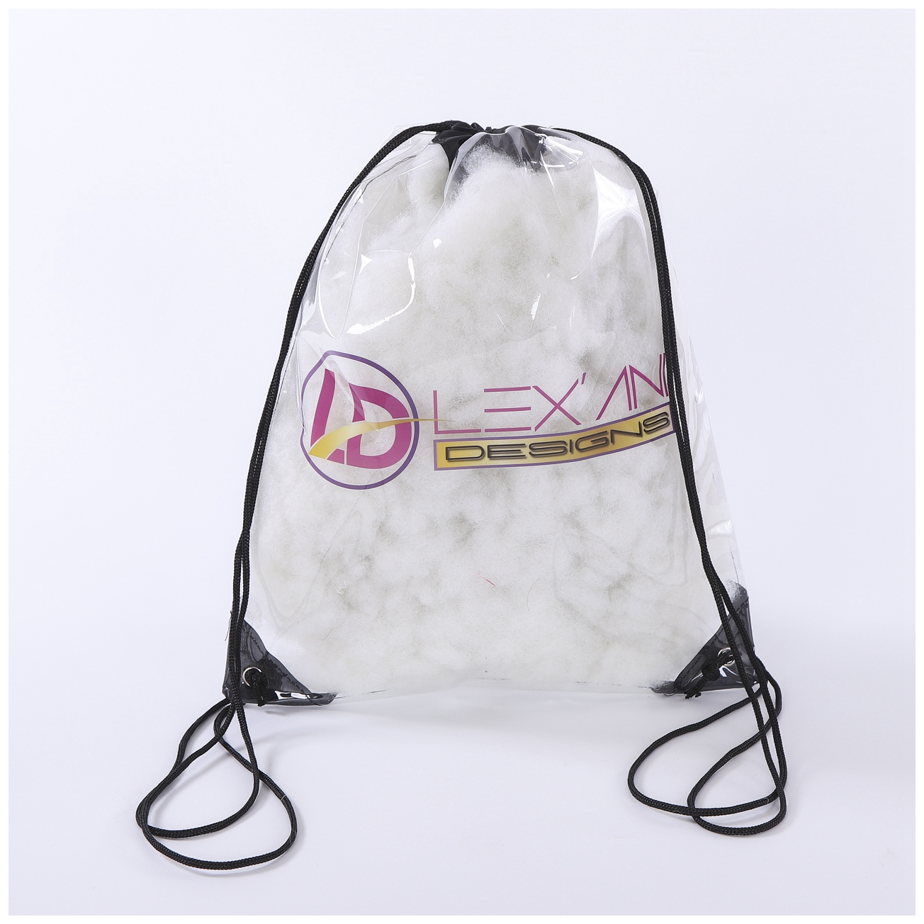 Cheap Transparent PVC Clear Drawstring Backpack Bags