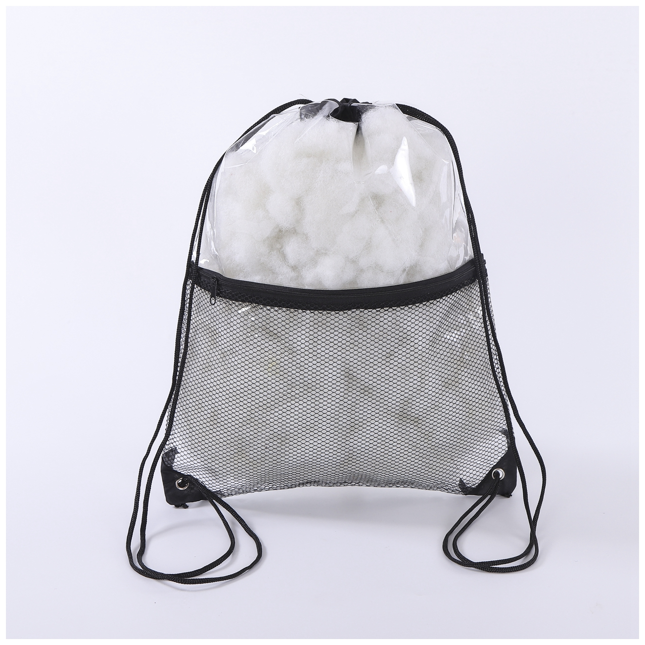 Clear Plastic PVC Drawstring Bags With Rope Handle